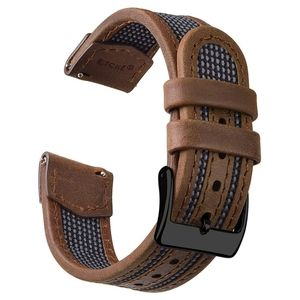 Quick Release Watch Strap Leather Nylon Watch Band